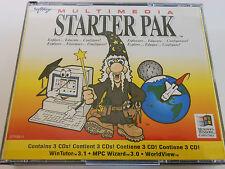 Fonction multimédia Starter Pak-CD-ROM - 1994 - 3 DISC SET