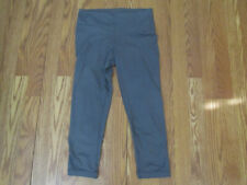 New Womens Active Life Gray Latice Lace Up Exercise Pants Size M $89