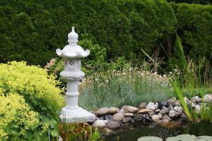 Kasuga japanische Granitlaterne Steinlaterne Granit Naturstein Laterne 115cm Koi