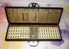 Exquisite 144 Tiles  Mahjong Set With wood leather Dragon&Phoeni Box