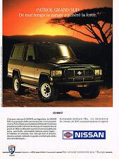 PUBLICITE  1991   NISSAN  PATROL  GRAND SUD