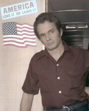 """MERLE HAGGARD COUNTRY WESTERN SINGER 1970 8x10"""" HAND COLOR TINTED PHOTOGRAPH"""