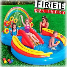Inflatable Kid Pool Slide Intex Sprayer Kiddie Swimming Water Fun Play Toy New