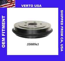 Verto USA Brake Drum  -Premium Rear  35089X1, Fits Toyota