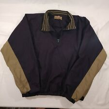 Firethorn Mens Black/Tan 1/4 Zip Pullover Jacket Size L
