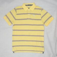 Abercrombie & Fitch Muscle Mens Classic Sueded Polo T Shirt Yellow Small