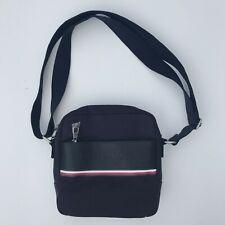 NWT Tommy Hilfiger Canvas Urban Stripe Messenger Bag Reporter Bag Navy Blue