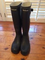 Ladies Blue Barbour Wellies/Welly Boots Size UK 7