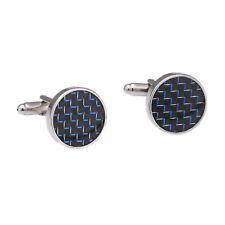 Luxus Hemd Silber Farbe Blau Kristall Herren Manschettenknöpfe Schmuck Geschenk