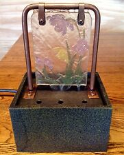 Copper Fountain Stained Lead Glass Look Tabletop Water Feature