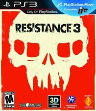 Resistance 3 (Sony PlayStation 3, PS3, 2011) *Without Manual*