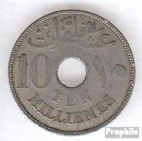 Ägypten KM-Nr. : 316 1917 sehr schön Kupfer-Nickel 1917 10 Milliemes Hussein Kam