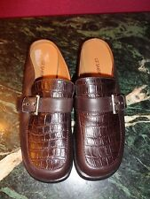 LIZ BAKER 7.5M BROWN LEATHER MULES WITH 1 INCH HEEL MULES NEW NO BOX