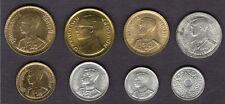 Early Coins of King Bhumibol Adulyadej and Rama VIII & IX Thailand 8 Coin Set a