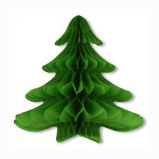 Beistle 25 inch Tissue Honeycomb Hanging Christmas Tree Party Decoration
