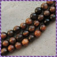 20 Perles Bois Tiger Black +/- 20 mm