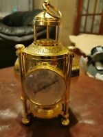 Brass Three Faced Barometer Thermometer Clock & Compass
