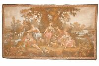 Antique French Aubusson Style Wall Hanging Tapestry |180 X 106 cm