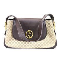 """NEW Authentic GUCCI """"1973"""" Diamante Canvas Tote Shoulder Bag Handbag, 251811"""