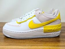 Mujeres Nike Air Force 1 Shadow Blanco Rosa Amarillo CJ1641 102 Nuevo Talla 7