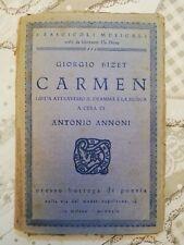 Carmen Guida Attraverso il Dramma e la Musica Giorgio Bizet 1924