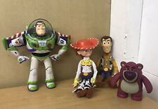 "TOY STORY 14"" PULL STRING TALKING WOODY FIGURE Jessie Talking Buzz & Lotso"