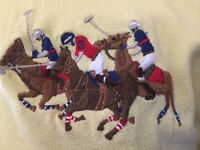 Polo Ralph Lauren Jockey Pony Logo Men's Yellow Polo Shirt Size Medium