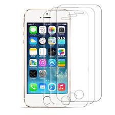 3x Panzer Schutz Glas für Apple iPhone 5 / 5S / SE Handy Displayfolie Echtglas