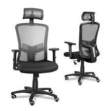 Ergonomic Office Desk Chair Swivel Mesh Adjustable Lumbar Support High Back Grey
