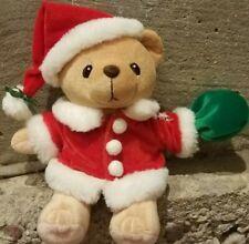 2000 Carlton Cards Enesco Priscilla Hillman Santa Plush BeanBag Cherished Teddy