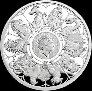 Queen's Beast Completer 1 Oz One Ounce Silver Proof