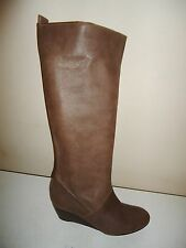 Unbranded Women's 100% Leather Wedge Knee High Boots
