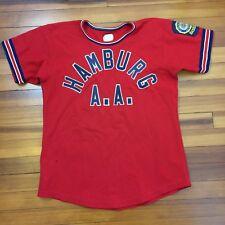 Vintage Felco Hamburg A.A. Baseball Jersey Size Medium Made In Usa