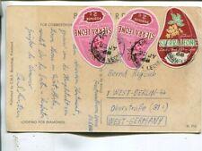 Sierra Leone post card to Germany 1968