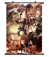 "Hot Anime Attack on Titan Levi Poster Wall Scroll Home Decor 8""x12"" F313"