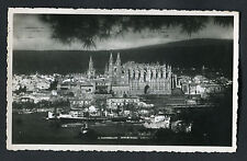 Posted 1953: Ships in the Harbour & Palma Cathedral, Mallorca, Spain