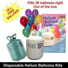 HELIUM GAS TANK KIT 30 BALLOON PARTY FUN WEDDING MARKETING FUNCTIONS BIRTHDAY