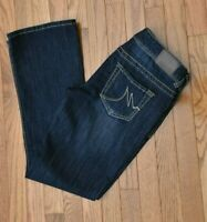 Maurice's Women's Jeans Bootcut Dark Wash/Distressed Stretch Size 7/8 Short