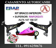 KIT BRACCI OSCILLANTI SUP RINFORZATI FRAP + INF ORIGINAL QUALITY ALFA 147 156 GT