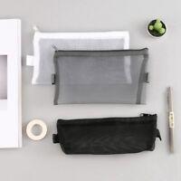 1 Pc Transparent Grille Zipper Trousse de Voyage Voyage Maquillage sac