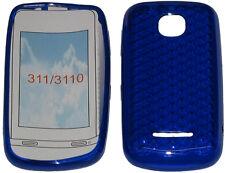 Para Nokia Asha 311 / 3110 patrón Gel Suave Funda Protectora Protector Bolsa Azul Nuevo