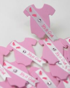 Baby Shower Recuerdos 12 PCS Pink Reveal It's A Girl Favors Foam Nina Rosa Bling