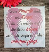 Dekofliese Wandbild Bildfliese Geschenkidee Fliese Spruch Freundschaft  (159)