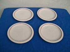 SYRACUSE CHINA *ECONO- RIM* ( LOT OF 4 ) DINNER PLATES MAROON STRIPE