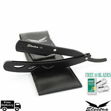 Professional Razors Barber Salon Straight Cut Throat Shaving Razor NEW, Black