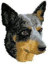 "Australian Cattle Dog, Blue Heeler Embroidered Patch 3"" x 2.5"""