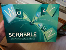 2012 SCRABBLE BOARD GAME BY MATTEL 100% COMPLETE VGC