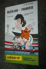 ancien Programme )) NEDERLAND V FRANCE 1980 élim.. World Cup / Holland...