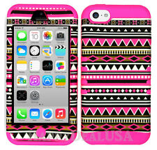 For Apple iPhone 5c KoolKase Hybrid Silicone Cover Case - Tribal Pink 06