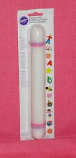 Rolling Pin, 9 Inch,With Guides, Wilton, Plastic, White, Fondant Roller